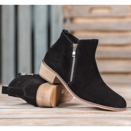 Goodin Leather Booties With A Zipper black 2