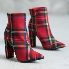 Seastar Stylish boots on a post red multicolored 5