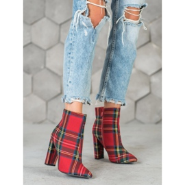 Seastar Stylish boots on a post red multicolored 2