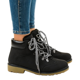 Black insulated boots DS1702 2