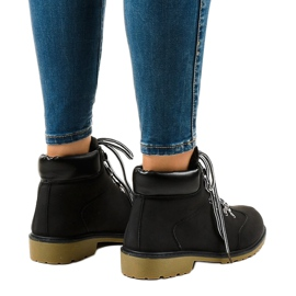 Black insulated boots DS1702 3