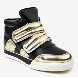 Black insulated sneakers on the wedge GF-ZM26 1