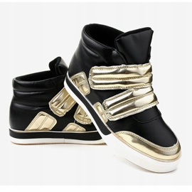Black insulated sneakers on the wedge GF-ZM26 3