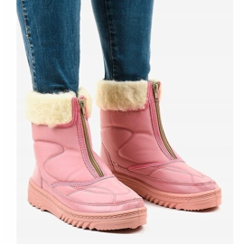 Pink snow boots ankle boots 69 1