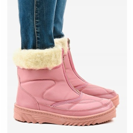 Pink snow boots ankle boots 69 2