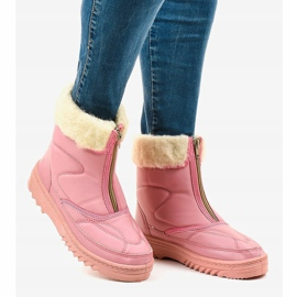 Pink snow boots ankle boots 69 3