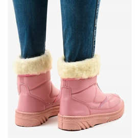Pink snow boots ankle boots 69 5