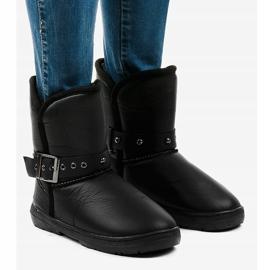 Black snow boots 69 1
