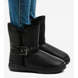 Black snow boots 69 3
