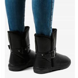 Black snow boots 69 4