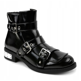 Black insulated boots A-388 1