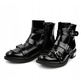 Black insulated boots A-388 2