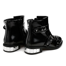 Black insulated boots A-388 3