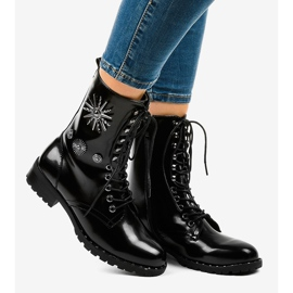 Black SA8023 workery boots 2