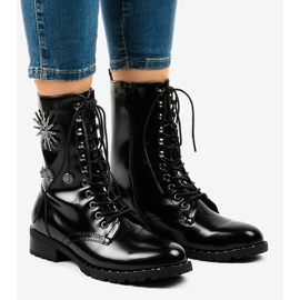 Black SA8023 workery boots 1