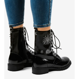 Black SA8023 workery boots 4