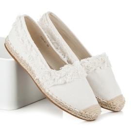 Vices White Espadrilles With Tassels 1