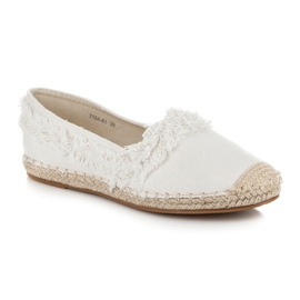 Vices White Espadrilles With Tassels 3