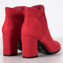 Marquiz Slip-on Suede Booties red 1