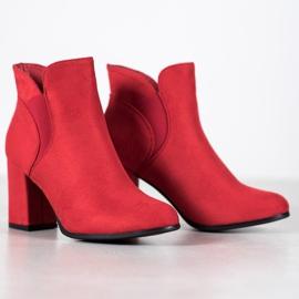 Marquiz Slip-on Suede Booties red 6