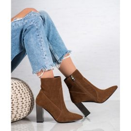 Goodin Sexy leather boots brown 4
