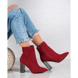 Goodin Sexy leather boots red 4
