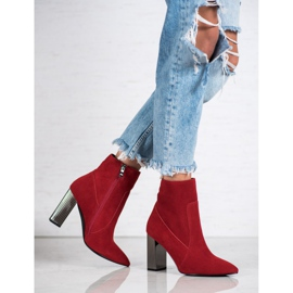 Goodin Sexy leather boots red 2