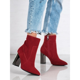 Goodin Sexy leather boots red 3