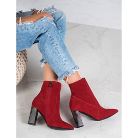 Goodin Sexy leather boots red 5