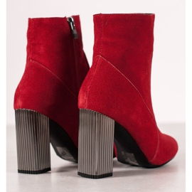 Goodin Sexy leather boots red 1
