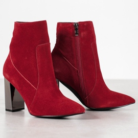 Goodin Sexy leather boots red 6