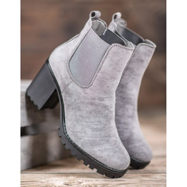 Queentina Chelsea Boots On A Bar grey 4