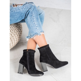 Goodin Leather Booties With A Frill black 1