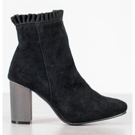 Goodin Leather Booties With A Frill black 2
