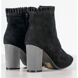 Goodin Leather Booties With A Frill black 4