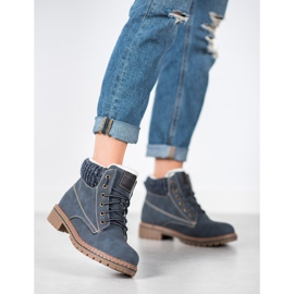 Goodin Trappers With Sheepskin blue 8