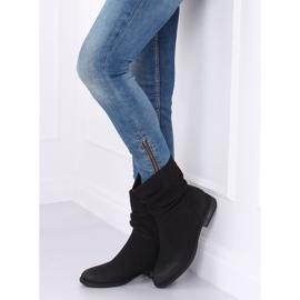 Black women's flat black boots 5139 Black 2