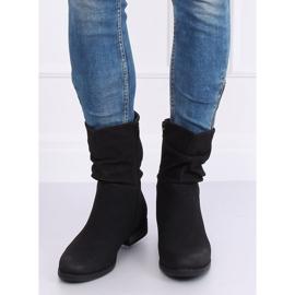 Black women's flat black boots 5139 Black 1