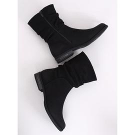 Black women's flat black boots 5139 Black 3
