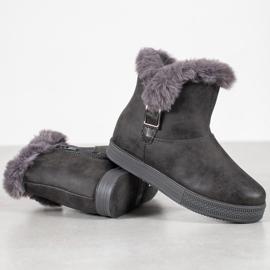 SHELOVET Booties With A Zipper grey 4