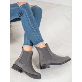 SDS Suede Chelsea boots grey 1
