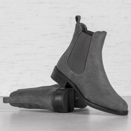 SDS Suede Chelsea boots grey 2