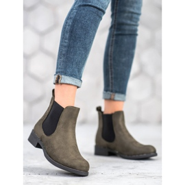 SDS Chelsea boots with crystals green 2