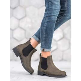 SDS Chelsea boots with crystals green 3