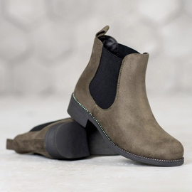 SDS Chelsea boots with crystals green 1