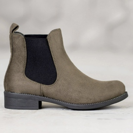SDS Chelsea boots with crystals green 4