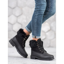 SHELOVET Trappers With Fur black 4