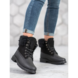SHELOVET Trappers With Fur black 1