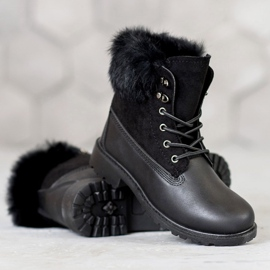 SHELOVET Trappers With Fur black 2