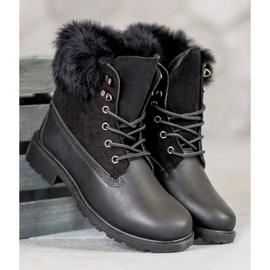 SHELOVET Trappers With Fur black 3